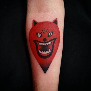 Hausu tattoo by Uve #Uve #graphic #redink #bold #popart #Hausu #House #Japanese #film #movietattoo #horror #psychedelic #animal #ghost #yokai