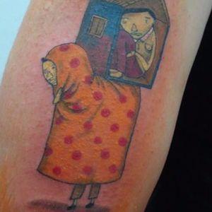 OSGEMEOS-inspired tattoo. #osgemeos #brazilian #twins