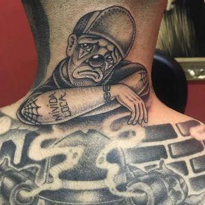 Black and grey clown by Mauro Landim #MauroLandim #blackandgrey #clown #tattoooftheday