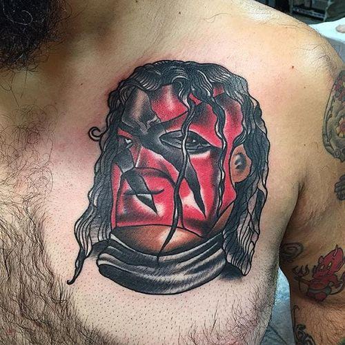 Kane Tattoo by @daggerface #WWE #wrestling #kane #daggerface