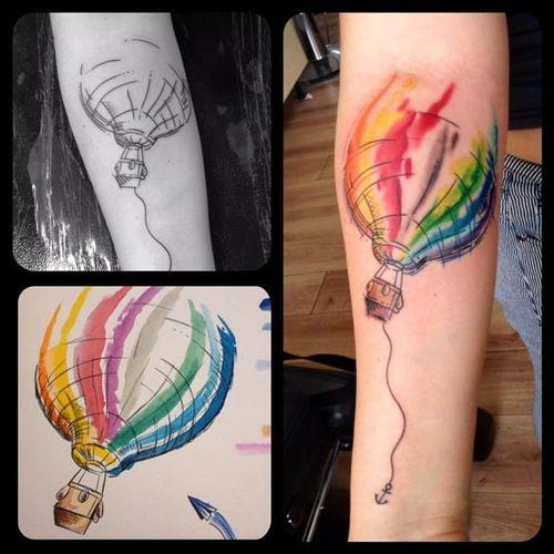 Processo de criação! #balão #aquarela #watercolor #SandroSecchin #coloridas #colorful #TalentoNacional #brasil #portugues