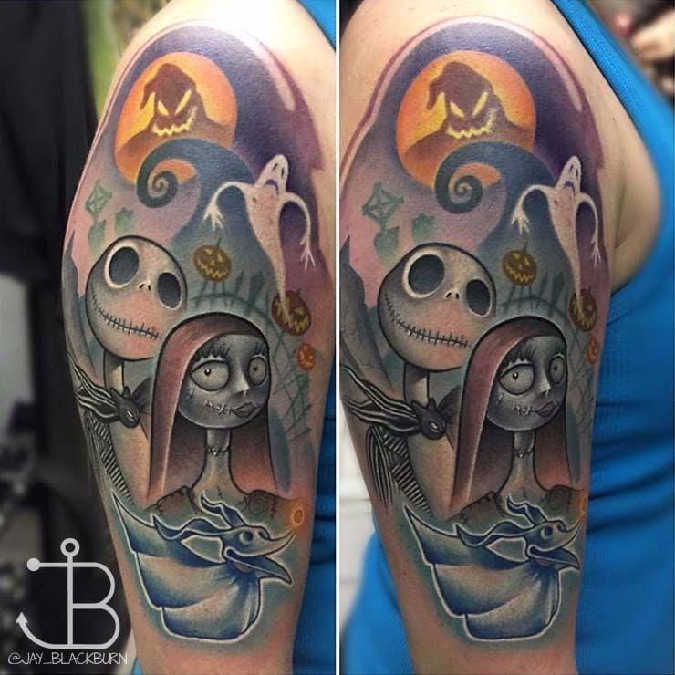 Jay Blackburn mandou muito nessa! #JayBlackburn #Disney #Disneytattoo #estranhomundodejack #NightmareBeforeChristmas #movies #filmes #nerd #geek #cartoon #comics