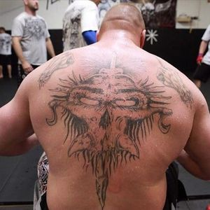 Brock's Demon Tattoo. #BrockLesnar #UFC #WWE #Demon