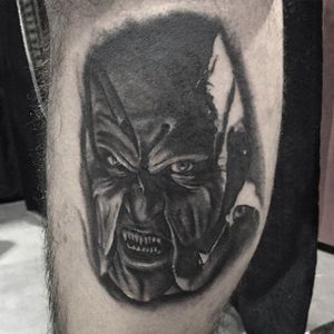 Jeepers Creepers tattoo by Shane Murphy. #blackandgrey #realism #horror #JeepersCreepers #ShaneMurphy
