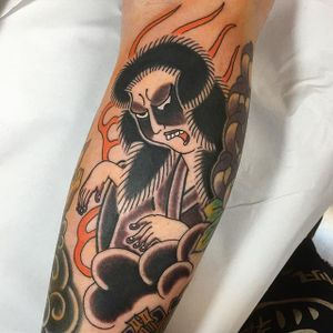 Spirit Tattoo by Monta Morino #japanese #japanesetattoo #japanesetattoos #asian #asiantattoos #japanesetattooartist #traditionalajapanese #japaneseimagery #MontaMorino