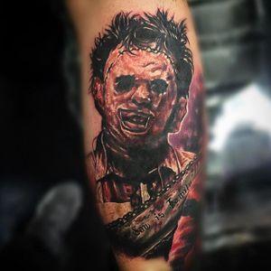 Leatherface Tattoo by Junior Hernandez @Tattoos_by_Junior #Leatherface #Leatherfacetattoo #TexasChainsawMassacre #serialkiller #killertattoo #horror #thriller #darktattoos #TheTexasChainsawMassacre #JuniorHernandez