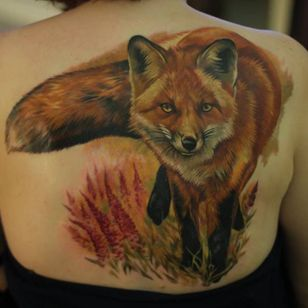 Another fox tattoo. #GienaRevess #realistic #realism #3D #photorealism #fox