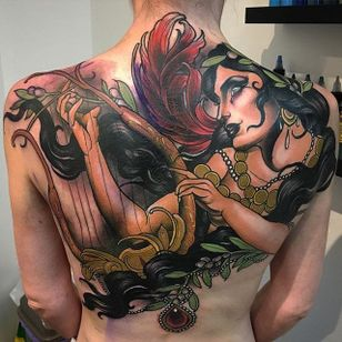 Erato Tattoo by Jake Danielson #erato #eratotattoo #neotraditional #neotraditionaltattoo #neotraditionaltattoos #neotraditionalartist #JakeDanielson