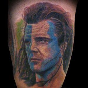 Braveheart Tattoo by Raul Marquez Murillo #Braveheart #BraveheartTattoo #MelGibson as #WilliamWallace #Portrait #MoviePortraits #RaulMarquezMurillo