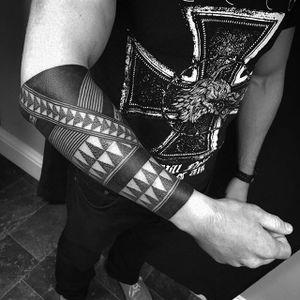 Tribal Tattoo by Daniel Frye #tribal #tribaltattoo #tribaltattoos #tribaldotwork #tribaldotworktattoo #tribalart #traditionaltribal #polynesian #polynesiantattoo #patternwork #patternworktattoo #DanielFrye