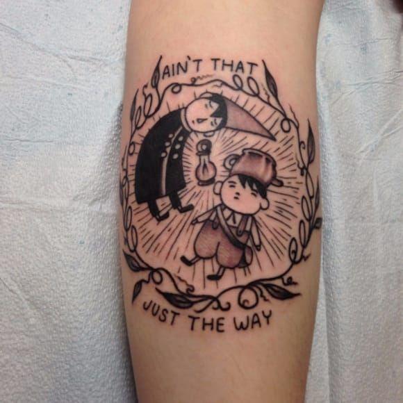 Tattoo de Over The Garden Wall por Josh Stephens! #JoshStephens #cartoonnetwork #cartoon #nerd #geek #cartoon #overthegardenwall