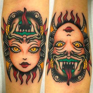 Awesome ambigram girl tattoo by Giuseppe Messina #Gypsy #Girl #GiuseppeMessina