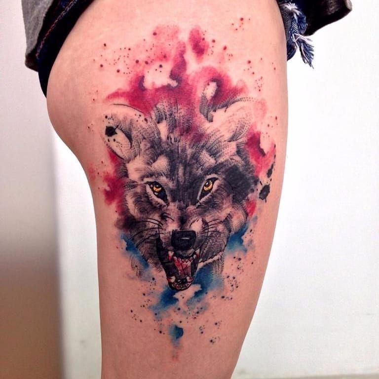 #RobertoFelizatti #aquarela #watercolor #tatuadoresdobrasil #sketch #colorida #colorful #lobo #wolf