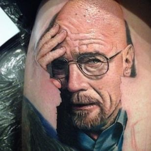 An in progress portrait of a conflicted Walter White by Pony Lawson. (Via IG - ponylawson) #breakingbad #wip