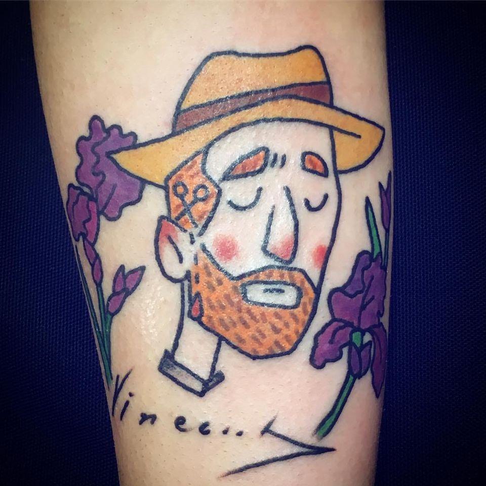 #MassimoLeonardi #VincentVanGogh #VanGogh #arte #art #homem #man #rosto #face #chapeu #hat #flor #flower #colorido #colorful