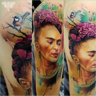 Resultado da tatuagem já cicatrizada. #aquarela #watercolor #vareta #ilustradorvareta #coloridos #brasil #brazil #portugues #portuguese #desenhos #drawing