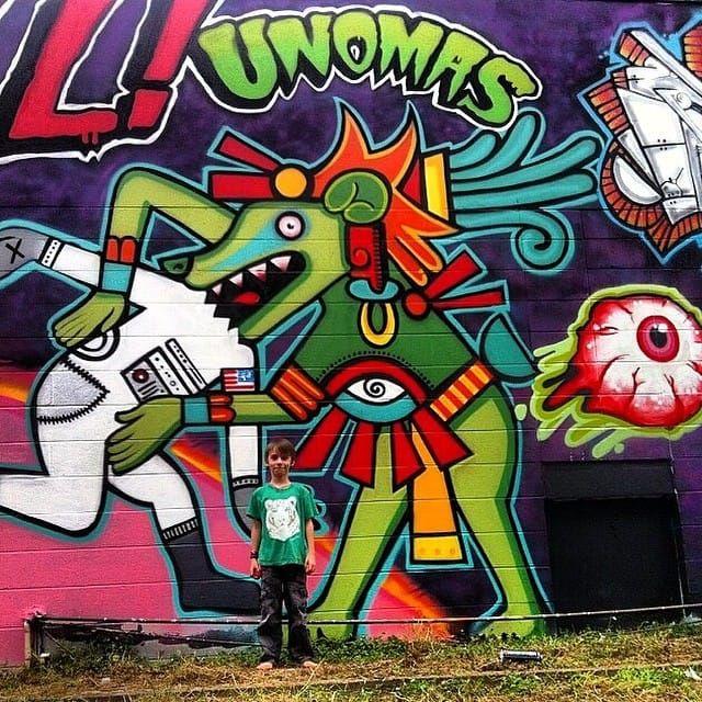 Mural made by Keir Unomas McEwan. (IG - unomaser) #KeirMcEwan #QueenStreetTattoo #Hawaii #Oahu #Sessions