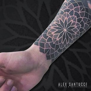Dotwork Tattoo by Alex Santucci #dotwork #colordotwork #mandala #contemporary #dotworkartist #italianartist #AlexSantucci