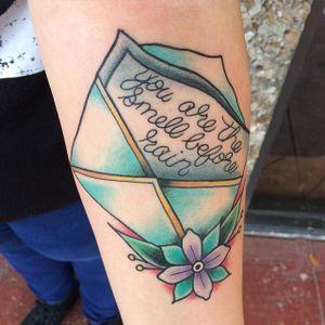 Envelope Tattoo by Bobby Bosak #Envelope #Letter #Traditional #GapFiller #loveletter #BobbyBosak