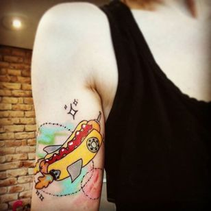 Hot dog! (via IG—bambi_freckles) #hotdog #hotdogs #hotdogtattoo
