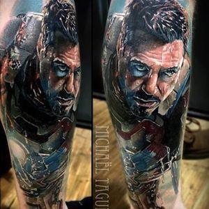 Iron Man tattoo by Michael Taguet. #marvel #superhero #ironman #comic #movie #tonystark