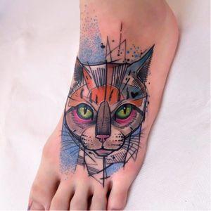 #Schwein #tatuadorgringo #coloridas #colorful #sketch #abstrata #abstract #gato #cat
