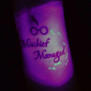 Mischief has managed to hide itself well! #harrypotter #harrypotter #harrypottertattoo #uvtattoo #blacklight #blacklighttattoo via emgn