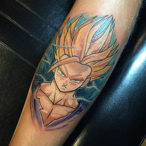 Gohan Tattoo by Jake Bailey #Gohan #DragonBall #Manga #JakeBailey #gohantattoo