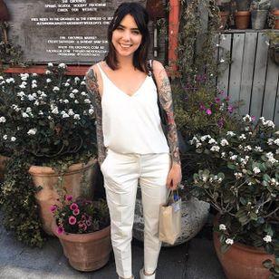 Artist Sophia Baughan (via IG-sophiabaughan) #neotraditional #artnouveau #color #naturalist #artist #tattooartist #SophiaBaughan