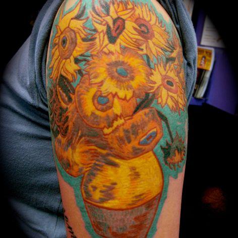 Doze Girassóis Numa Jarra, de Vicent Van Gogh por Graham Chaffee #GrahamChaffee #obrasdearte #art #vicentvangogh #vangogh #dozegirassoisnumajarra #girassol #twelvesunflowersinavase #sunflower