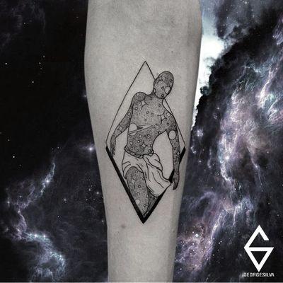 Tattoo por George Silva! #GeorgeSilva #tatuadoresbrasileiros #tatuadoresdobrasil #tattoobr #Natal #universe #man #homem #universo #fineline #linhafina #traçofino #blackwork