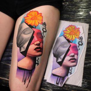 #DavePaulo #gringo #realismo #realism #colorido #colorful #portrait #retrato #colagem #collage #woman #mulher #flor #flower #pretoecinza #blackandgrey