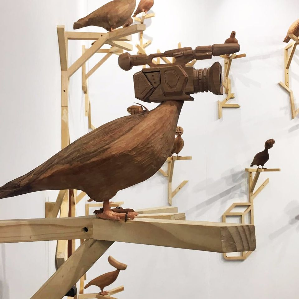 """Due Status"" by Manuela Viera-Gallo at Volta NY (Photo by Katie Diamond) #ArmoryArtsWeek #art #nyc #manuelavieragallo #sculpture"