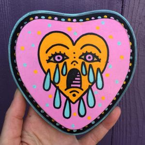 Neon crying heart by Christina Hock #ChristinaHock #art #neon #heart #cryingheart