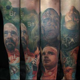 A remarkably detailed Breaking Bad sleeve by Carlos Rojas. (Via IG - crojasart) #breakingbad
