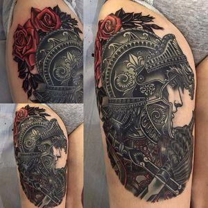 Knight tattoo by Lynn Akura #LynnAkura #neotraditional #knight