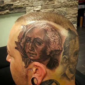 Washington on my mind by Danny Bx (via IG -- dannybltg) #dannybx #portrait #headtat #georgewashington