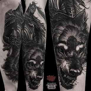 Dark Souls Tattoo by Alex Underwood #darksouls #darksoulstattoo #blackwork #blackworktattoo #blackworktattoos #blacktattoos #blackink #blackworkartists #AlexUnderwood