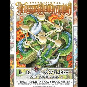The poster for the International Brussels Tattoo Convention. #InternationalBrusselsTattooConvention #November2016 #tattooconvention