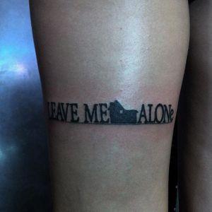 "Leave Me Alone ""Home Alone"" parody tattoo by seanfromtexas, via Instagram. #leavemealone #homealone #parody #feminist #grlpwr #riotgrrrl #woman #equality"