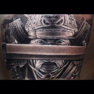 Bushido black and gray tattoo work done by Anastasia Forman. #AnastasiaForman #realistic #blackandgray#samurai #bushido #warrior