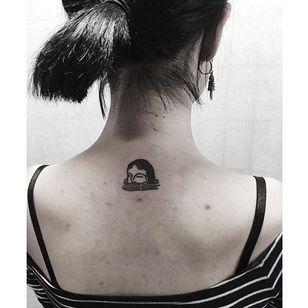 Drowning Girl Tattoo by Fidjit #drowning #drowningtattoo #drowninggirl #blackwork #blackworktattoo #abstract #graphic #Fidjit #Fidjittattoo #FidjitLavelle