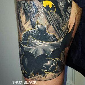 Batman Tattoo by Troy Slack #batmantattoo #batman #superhero #TroySlack