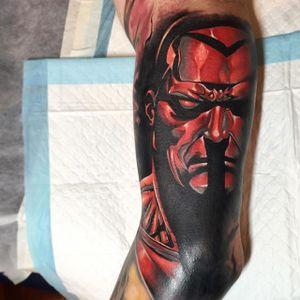 Colossus Superhero Tattoo by Benjamin Laukis #Colossus #XMen #MarvelTattoos #SuperheroTattoos #BenjaminLaukis