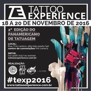 De 18 a 20 de Novembro! #TattooExperience2016 #TattooWeek #Convenções #brasil #texp2016