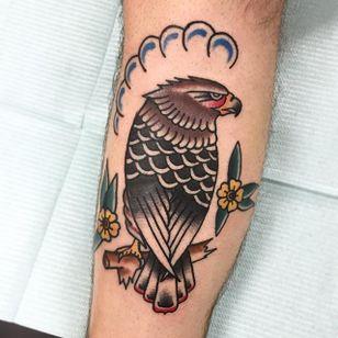 Traditional Hawk Design by Tim Arthur #Hawk #TraditionalHawk #BirdTattoo #TraditionalBird #TimArthur