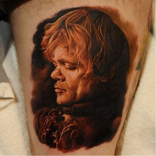 Tyrion Lannister Tattoo #Tyrion #Lannister #TyrionLannister #TyrionTattoo #TyrionLannisterTattoo #PeterDinklage #Portrait #GameofThrones