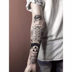 Por Alfonso Tattoo! #Alfonsotattoo #tatuadoresbrasileiros #fullmetalalchemist #manga #mangatattoo #mangaanime  #anime #animetattoo #oroboros #circulodetransmutação