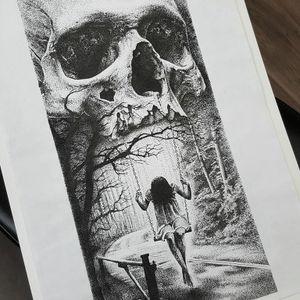 Creepy art by Luke Sayer #LukeSayer #blackandgrey #realistic #horror #skull #art #illustration