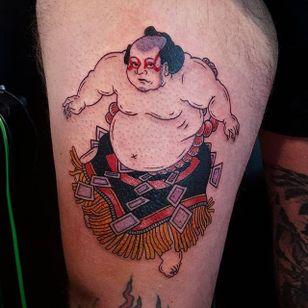 Sumo Tattoo by Jan Willem #sumo #japanesesumo #japanese #traditionaljapanese #irezumi #JanWillem